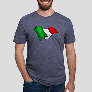 Waving Italian Flag Mens Tri-blend T-Shirt