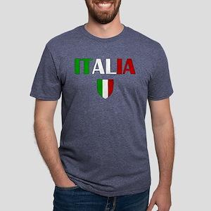 Italia Logo Mens Tri-blend T-Shirt