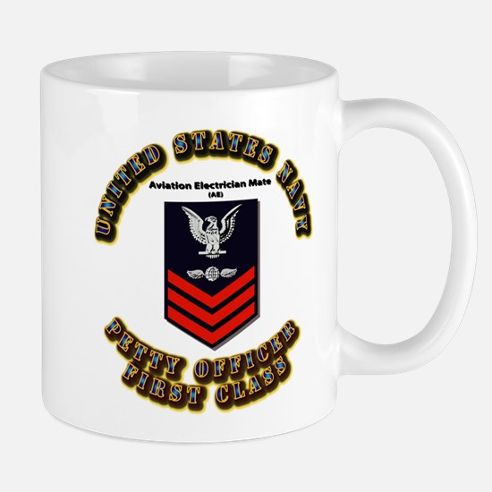 Aviation Electrician Mate (AE) with Text Mug