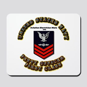 Aviation Electrician Mate (AE) with Text Mousepad