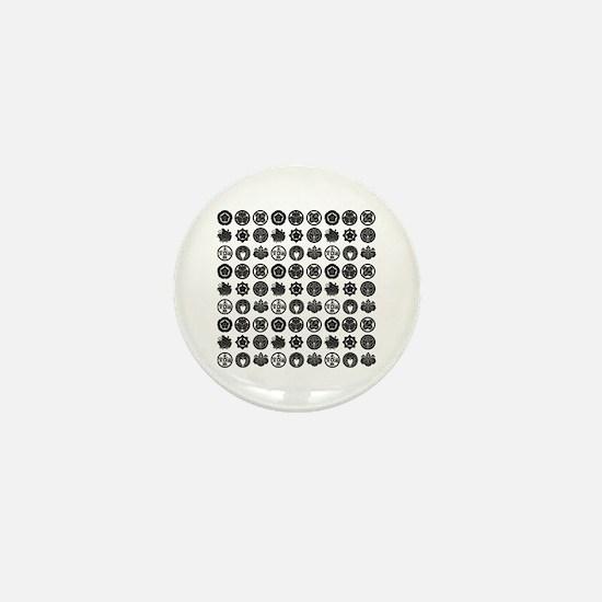 kamon pattern Mini Button