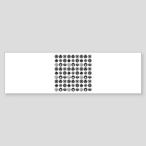 kamon pattern Sticker (Bumper)