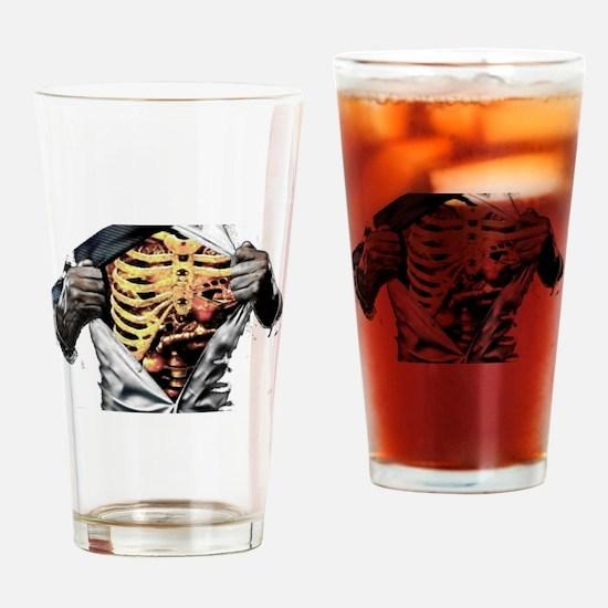 ribcage Drinking Glass
