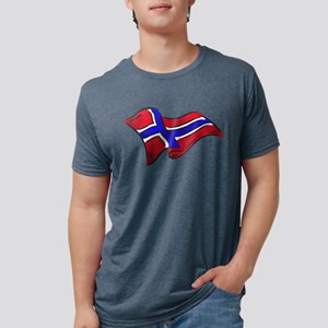 Flag of Norway Mens Tri-blend T-Shirt