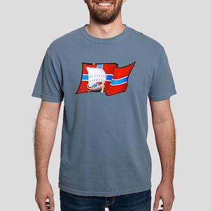 Norwegian Viking Ship Mens Comfort Colors Shirt