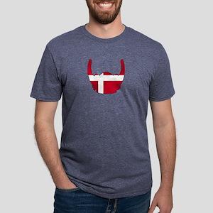 Danish Viking Helmet Mens Tri-blend T-Shirt