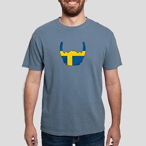 Swedish Viking Helmet Mens Comfort Colors Shirt