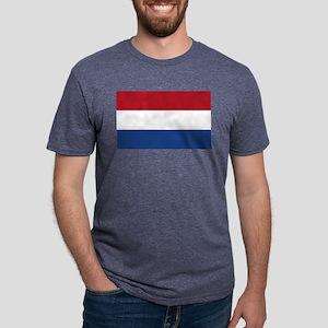Netherlands Flag Mens Tri-blend T-Shirt