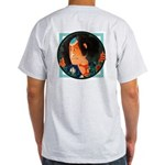 Ukiyo-e - 'Warrior back/front' Ash Grey T-Shirt