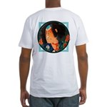 Ukiyo-e - 'Warrior back/front' Fitted T-Shirt