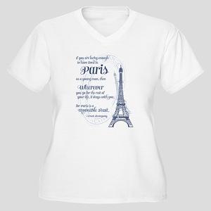 Paris Women's Plus Size V-Neck T-Shirt