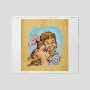 Velvet-Rabbit 4 Throw Blanket