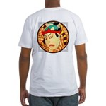 Ukiyo-e - 'Sumo back/front' Fitted T-Shirt