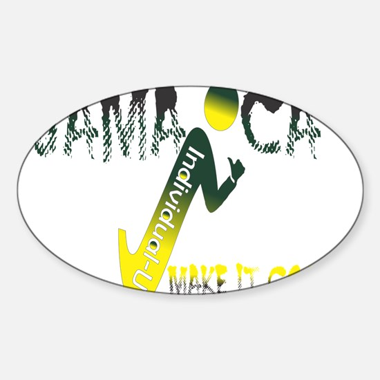 Jamaica, I Make it Good Sticker (Oval)