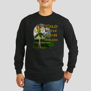 Wild Little irish Colleen Long Sleeve Dark T-Shirt