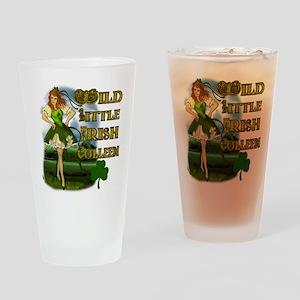 Wild Little Irish Colleen Drinking Glass