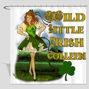 Wild Little Irish Colleen Shower Curtain