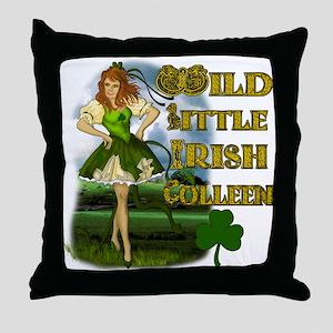 Wild Little Irish Colleen Throw Pillow