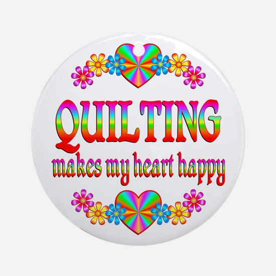 Quilting Happy Ornament (Round)