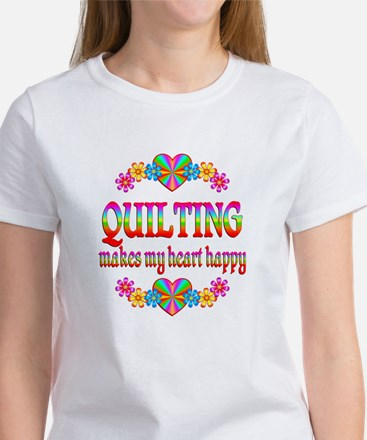 Quilting Happy Women's T-Shirt