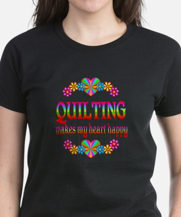 Quilting Happy Women's Dark T-Shirt