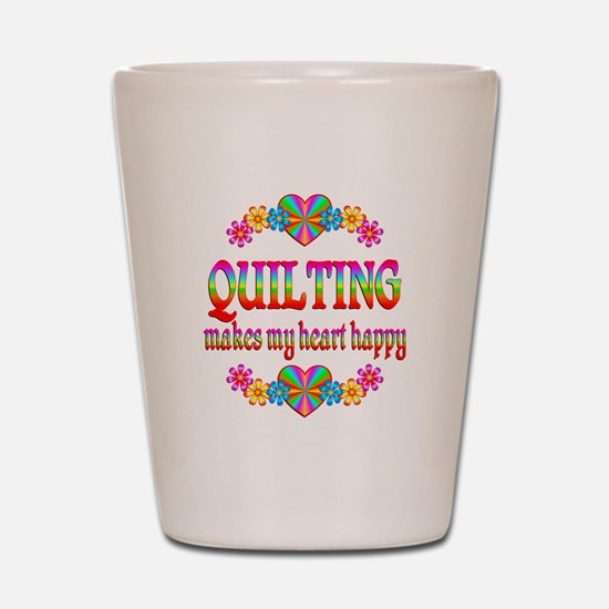 Quilting Happy Shot Glass