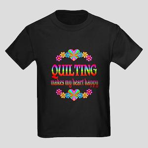 Quilting Happy Kids Dark T-Shirt