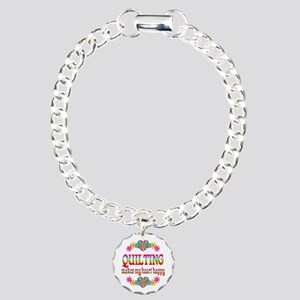 Quilting Happy Charm Bracelet, One Charm