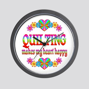 Quilting Happy Wall Clock