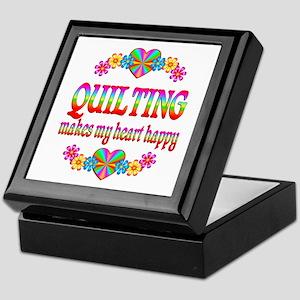 Quilting Happy Keepsake Box