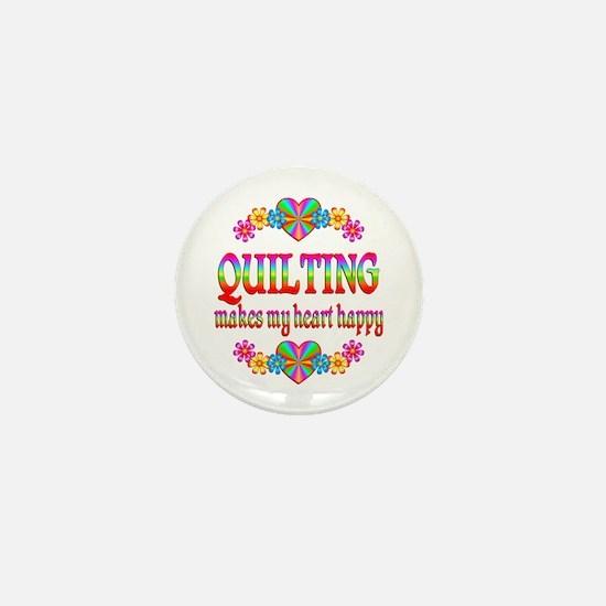 Quilting Happy Mini Button