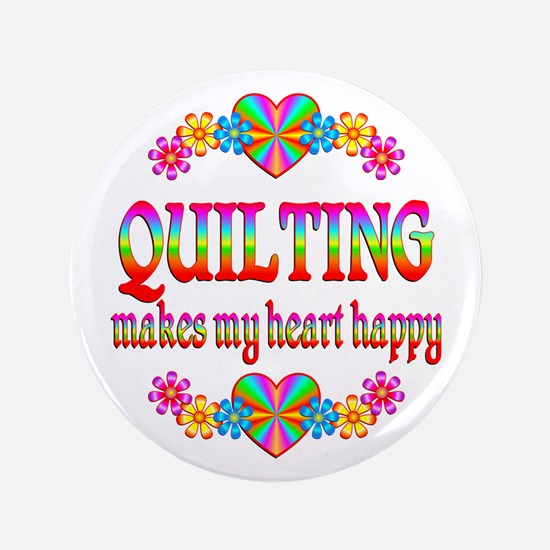 "Quilting Happy 3.5"" Button (100 pack)"