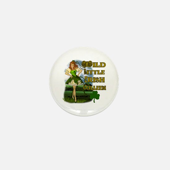 Wild Little Irish Colleen Mini Button
