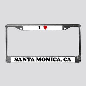 I Love Santa Monica License Plate Frame