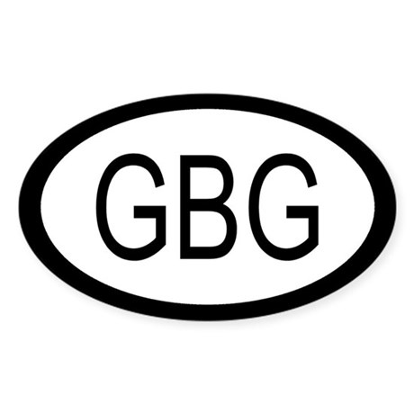 Guernsey Car Sticker / Decal (Oval)