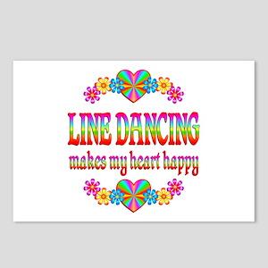 Line Dancing Happy Postcards (Package of 8)