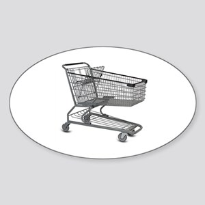 Shopping Cart Sticker (Oval)