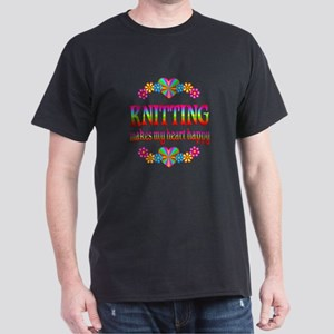 Knitting Happy Dark T-Shirt