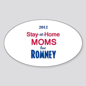 Romney MOMS Sticker (Oval)