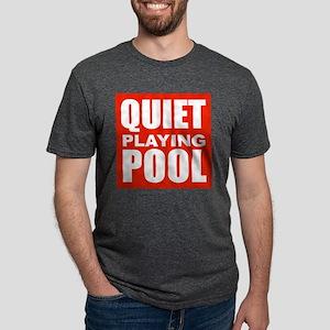 Quiet Playing Pool Mens Tri-blend T-Shirt