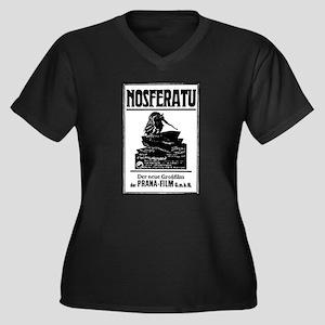Nosferatu Women's Plus Size V-Neck Dark T-Shirt