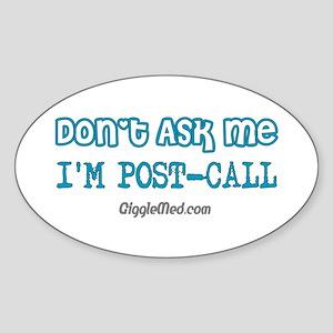I'm Post-Call Oval Sticker