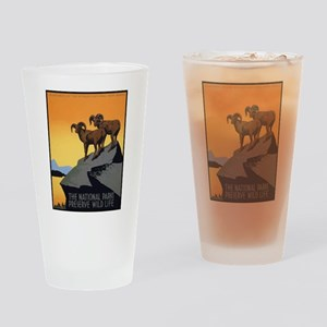 National Parks Preserve Wild Life Drinking Glass
