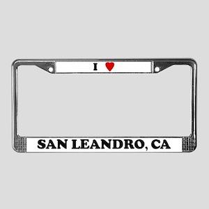 I Love San Leandro License Plate Frame