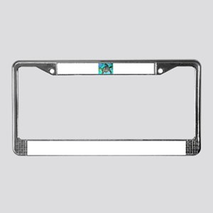 Sea turtle, wildlife art! License Plate Frame