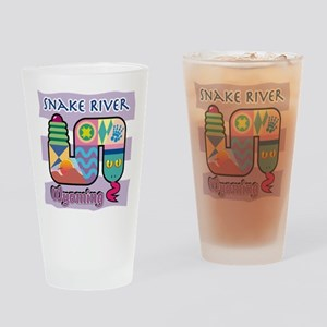 Snake River Wyoming Drinking Glass