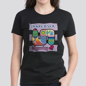 Snake River Wyoming Women's Dark T-Shirt