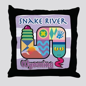Snake River Wyoming Throw Pillow