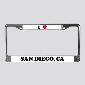 I Love San Diego License Plate Frame
