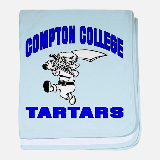 Compton College baby blanket